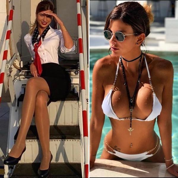Стюардессы на работе и в социальных сетях (20 фото)