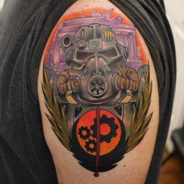 Татуировки, вдохновлённые серией игр Fallout