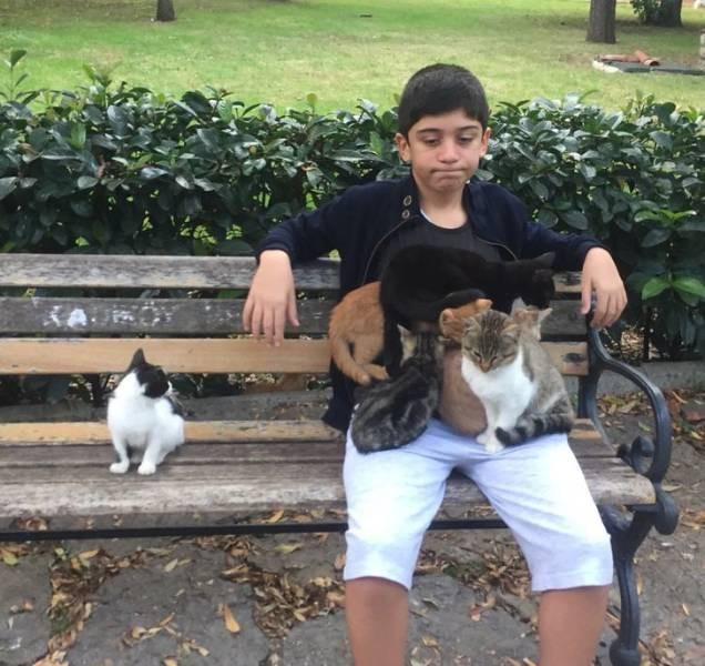 Дети и домашние животные — лучшие подниматели настроения!