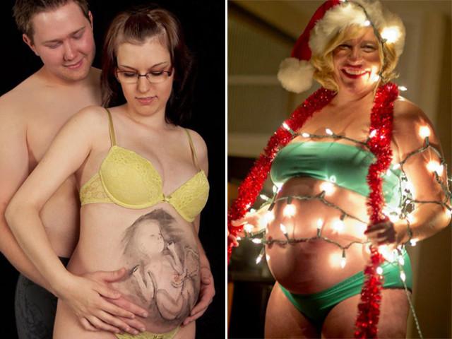 Странные «беременные» фотосессии