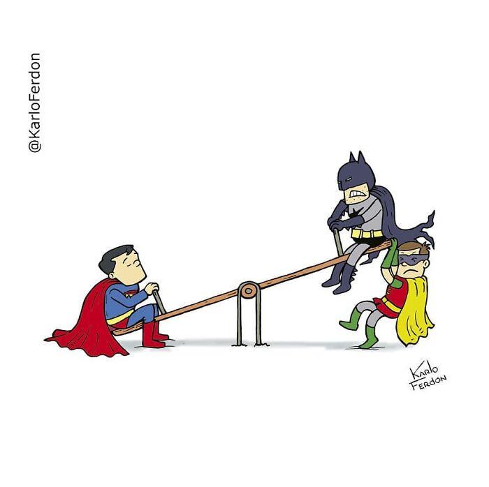 Повседневная жизнь супергероев, о которой мы не догадываемся, в забавн