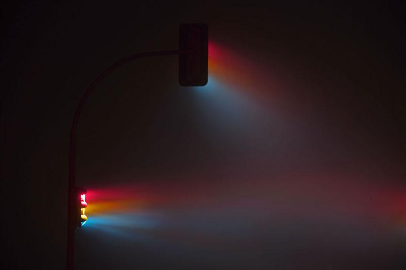 Ночные светофоры, сфотографированные на длинной выдержке (7 фото)