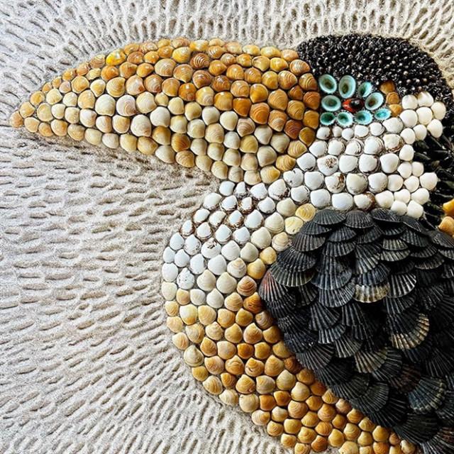 Завораживающие узоры и скульптуры из ракушек, вдохновлённые миром животных