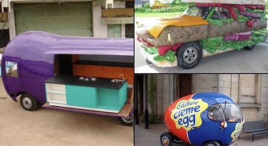 Транспорт, вдохновлённый едой