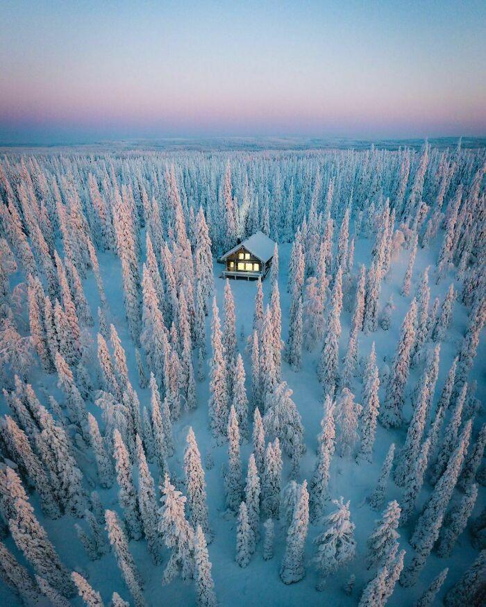 Лесные хижины, куда можно сбежать от повседневной суеты (30 фото)