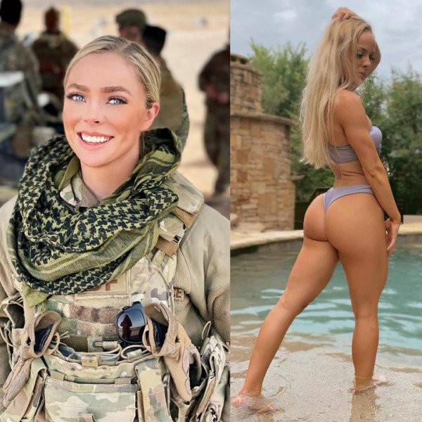 Девушки в униформе и без неё (20 фото)