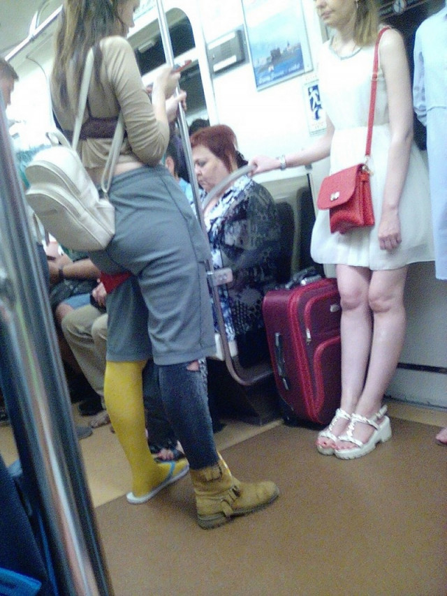 Странные и неожиданные пассажиры метро