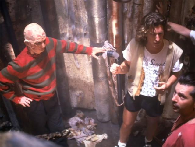 Закулисные фотографии со съёмок фильма «Кошмар на улице Вязов 5: Дитя сна»