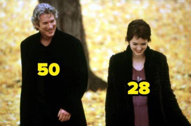 Разница в возрасте между актёрами и актрисами, сыгравшими пары (14 фото)