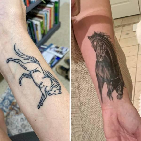 Когда старые или неудачные татуировки получают второй шанс