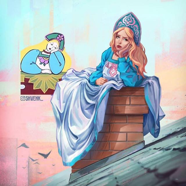 Томский художник продолжает показывать, какими популярные мультперсонажи рисуются у него в голове