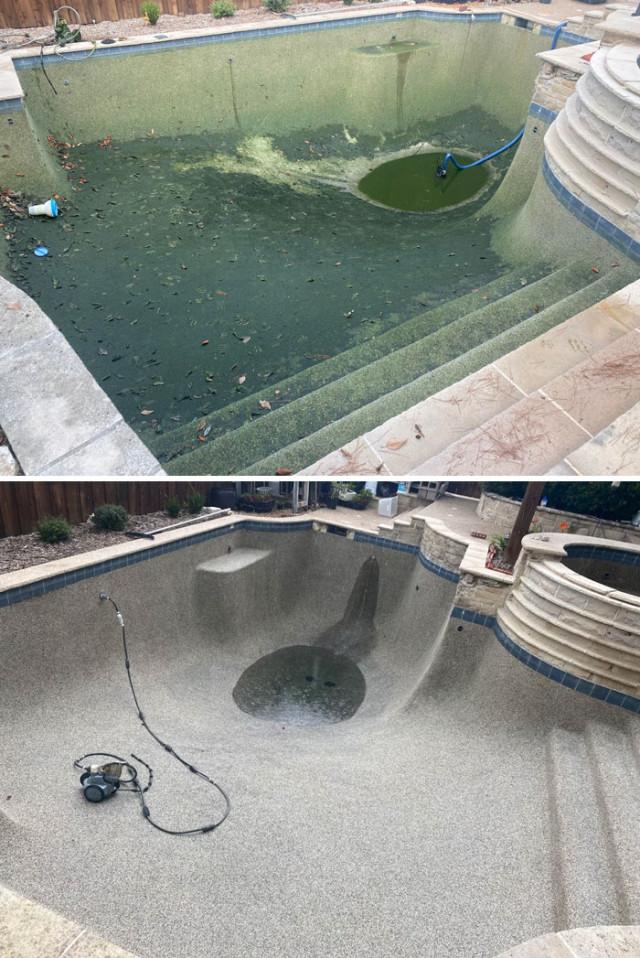 Места и объекты до и после того, как их преобразили с помощью мойки высокого давления