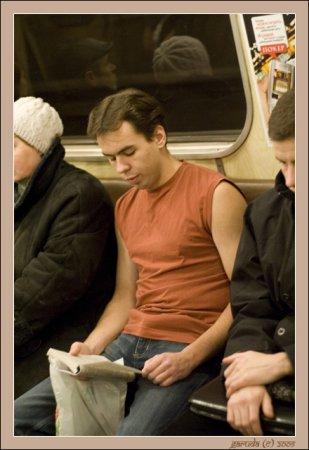 Морж в метро