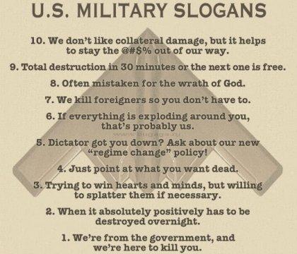 Слоганы и девизы американской армии