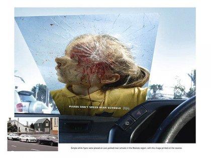 Креативная социальная реклама: не гоните возле школ