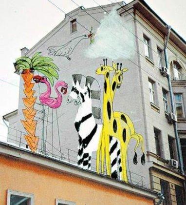 Москву раскрасят