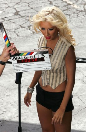 Кристина Агилера на съёмках нового клипа