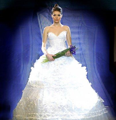 Платье из прокладок