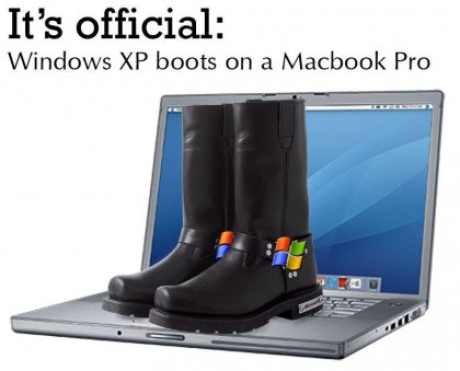 Windows XP boots on a Macbook Pro