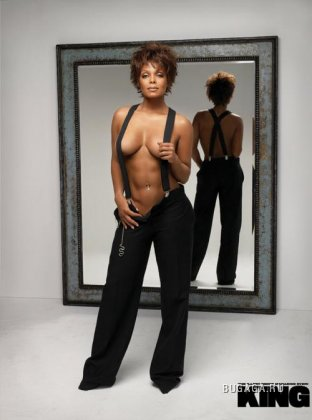 "Janet Jackson в журнале ""King"""