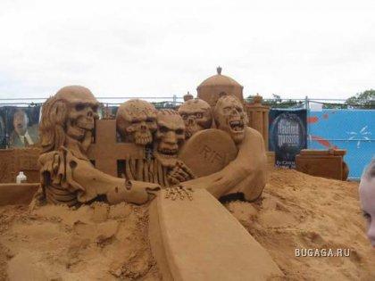 Мультяшки Диснея из песка