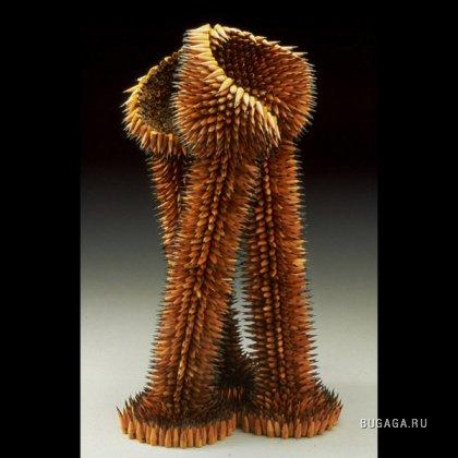 Изумительные скульптуры из карандашей - 2
