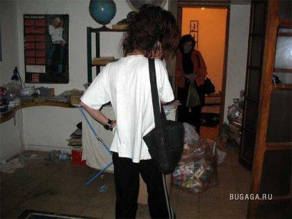 Девушка снимала квартиру, хозяева после этого были в шоке (4 фотографии)