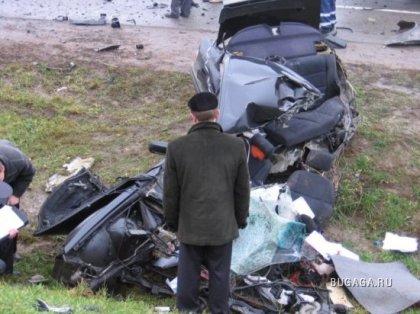 Жестокая авария на МКАД в Минске