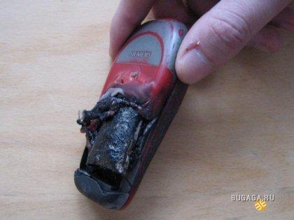 Взорвавшийся аккумулятор (8 фото)