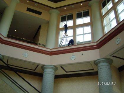 Как правильно ставить лестницы