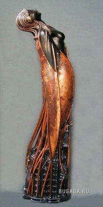 Скульптуры из металла работы Пьера Маттера.