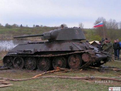 В озере нашли Т-34 времен Второй Мировой
