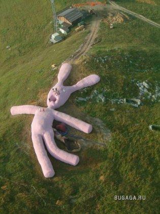Большой розовый кролик