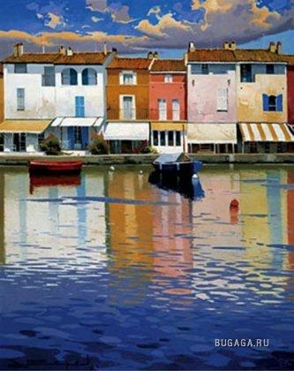 Вода и лодки в картинах.