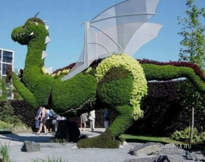 Зелёные скульптуры