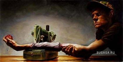 Необычная бытовуха в рисунках Джереми Геддерса