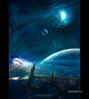 космос или бурная фантазия художника