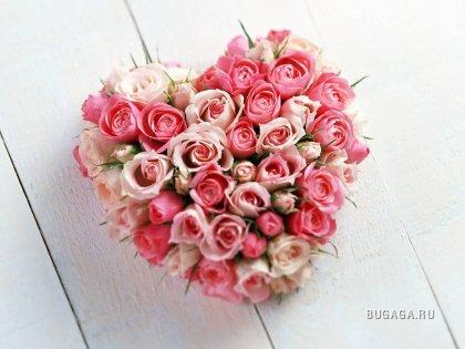 Сердечки из цветов
